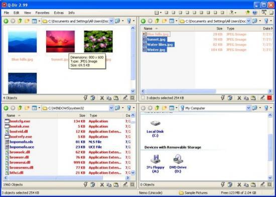 Скриншот Q-Dir 5.57
