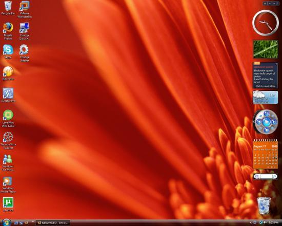 Скриншот Thoosje Windows Seven Sidebar 3.1.0