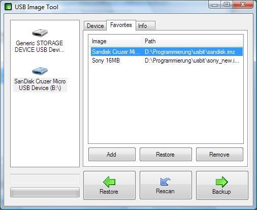 Скриншот USB Image Tool 1.62