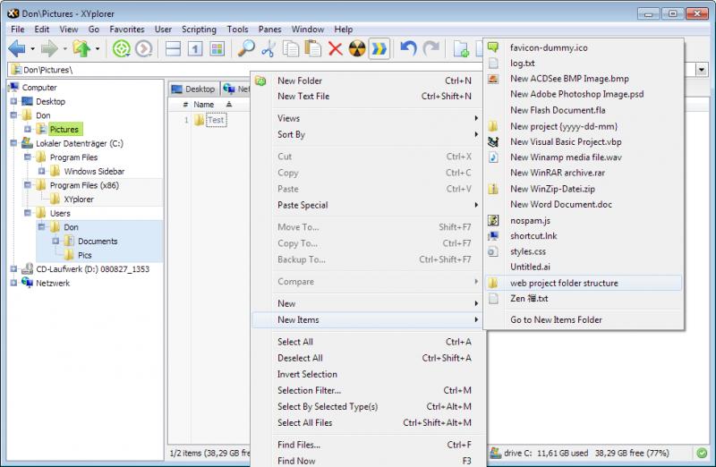 Скриншот XYplorer 12.40.0200 + Portable