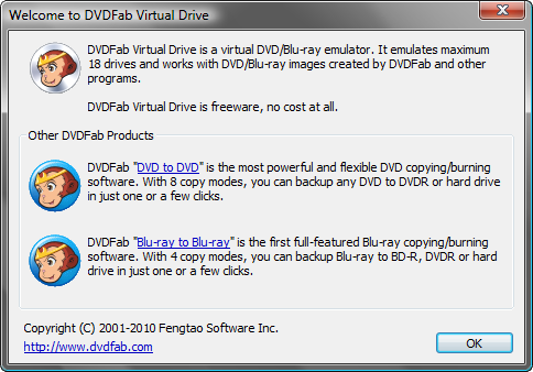 Скриншот DVDFab Virtual Drive 1.1.0.1