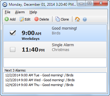 Скриншот Free Alarm Clock 2.7