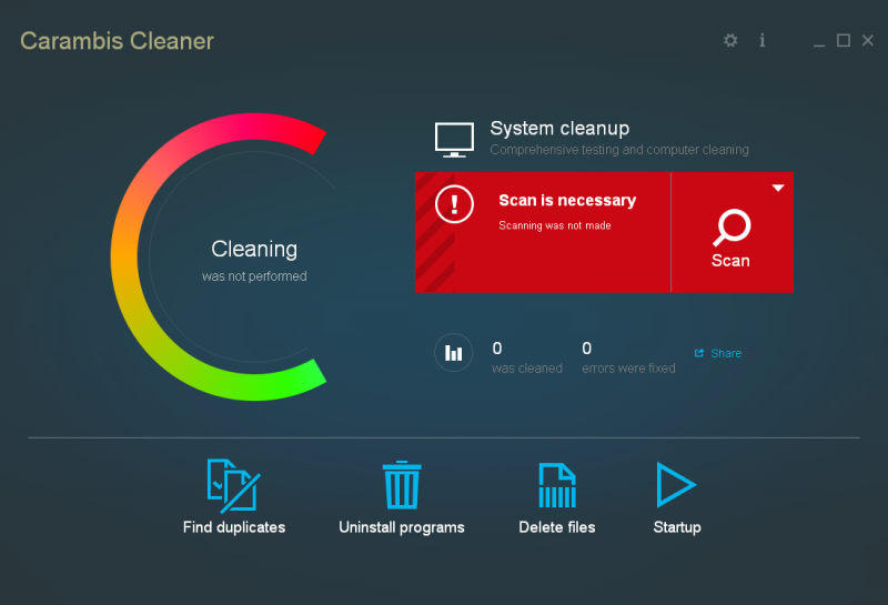 Скриншот Carambis Cleaner 1.3.4.5326