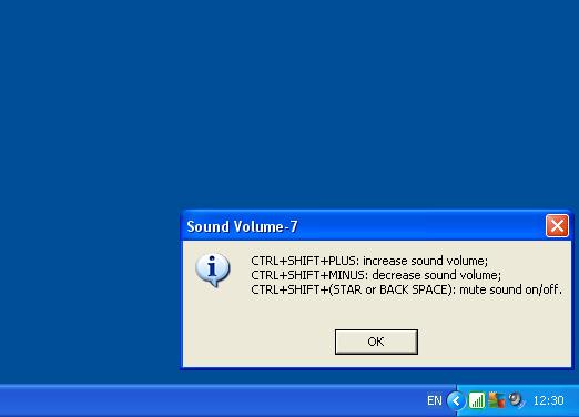 Скриншот Sound Volume-7 1.0