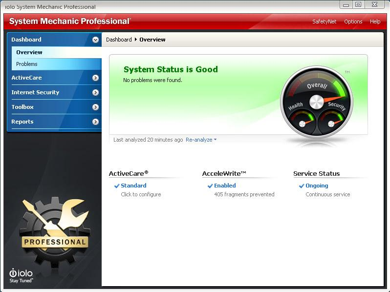Скриншот System Mechanic Professional 18.7
