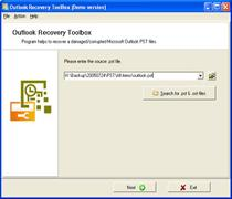 Скриншот Outlook Recovery Toolbox 3.0.3