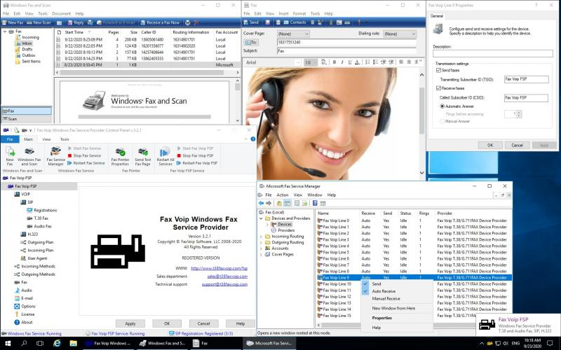 Скриншот Fax Voip Windows Fax Service Provider 2.3.1