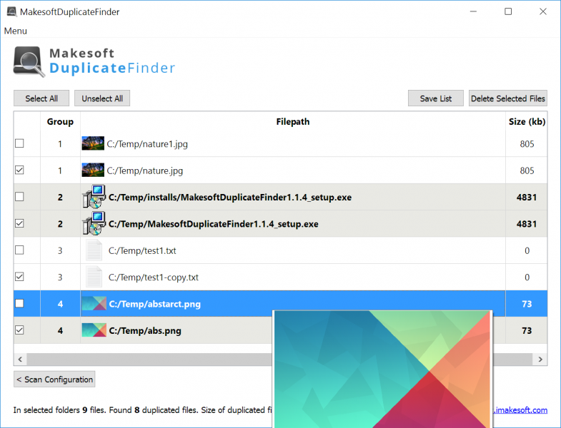 Скриншот Makesoft DuplicateFinder 1.1.5