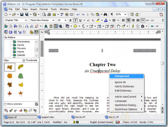 Скриншот Atlantis Word Processor 3.2.4.1