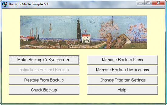 Скриншот Backup Made Simple 5.1.239