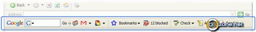 Скриншот Google Toolbar for Internet Explorer 4.0.1020.6156