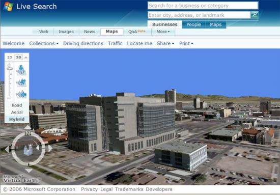 Скриншот Microsoft Virtual Earth 3D 4.0 Beta