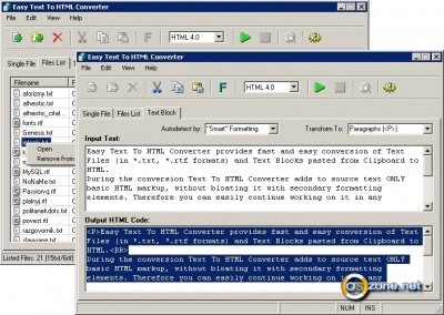 Скриншот Easy Text To HTML Converter 3.0.0.057