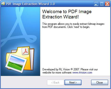 Скриншот PDF Image Extraction Wizard 3.5