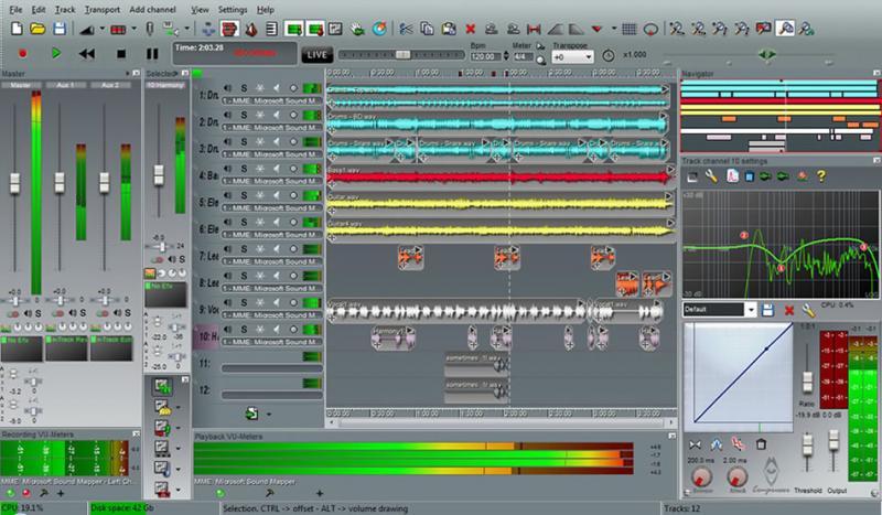 Скриншот n-Track Studio 6.1.1.2691