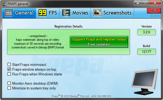 Скриншот Fraps 3.5.99