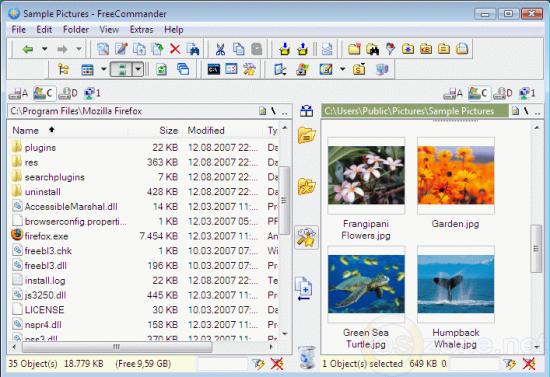 Скриншот FreeCommander 2009.02b