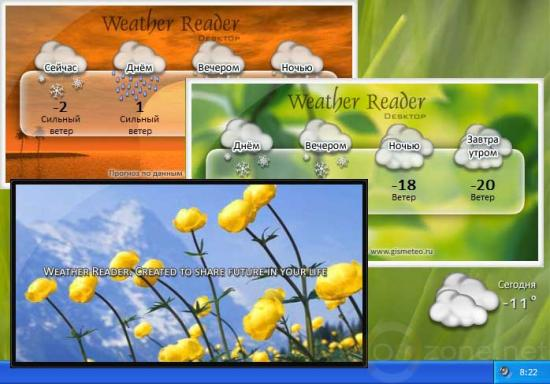 Скриншот Weather Reader Desktop 1.0