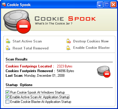 Скриншот Cookie Spook 3.0.0