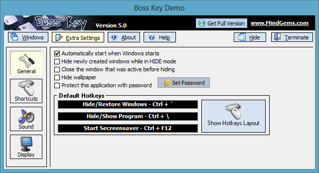 Скриншот Anti Boss Key 5.1