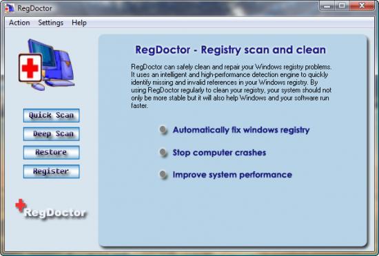 Скриншот RegDoctor 2.37