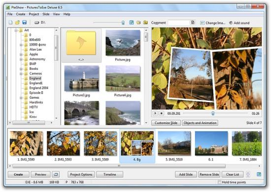 Скриншот PicturesToExe 9.0.9