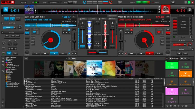 Скриншот VirtualDJ Home 8.2.3994