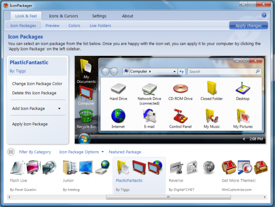Скриншот IconPackager 5.10