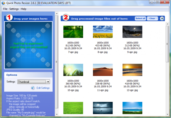 Скриншот Quick Image Resizer 2.7.3.2