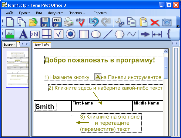 Скриншот Form Pilot Office 2.66