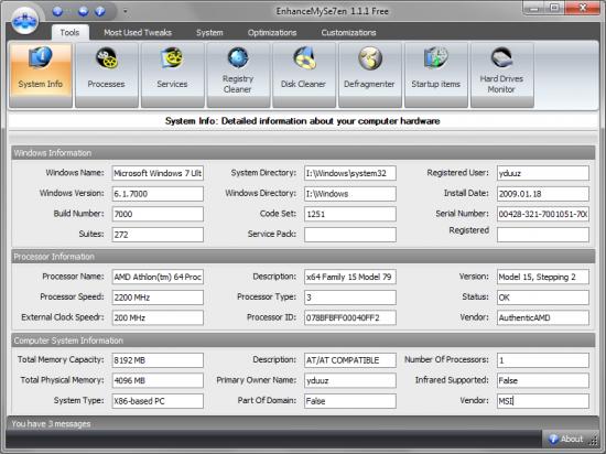 Скриншот EnhanceMySe7en Free 1.1.3