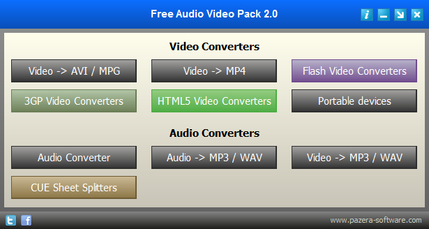 Скриншот Free Audio Video Pack 2.18