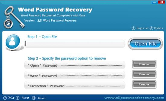 Скриншот Word Password Recovery 5.0