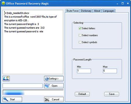 Скриншот Office Password Recovery Magic 6.1.1.290
